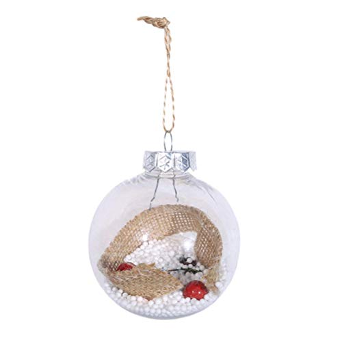 BESTOYARD Christmas Tree Drop Ornaments Christmas Ball Xmas Pendant Hanging Transparent Decorations with Berries for Home and Office(4) -