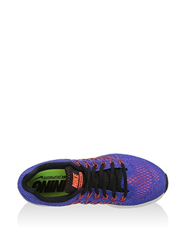 Nike Wmns Air Zoom Pegasus 32, Chaussures de Running Femme Bleu - Azul (Rcr Bl / Blk-Hypr Orng-Brght Mng)