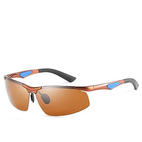 Retro Small Square Sonnenbrille, Herren Aluminium-Magnesium-Legierung polarisierte Sonnenbrille, Sport Style Goggle UV400 Objektivschutz,B