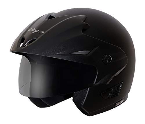 Vega Cruiser CR-W/P-DK-L Open Face Helmet (Dull Black, L)