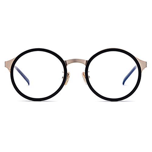 Yiph-Sunglass Sonnenbrillen Mode Exquisite leichte Frauen einfache Brille Full Frame Business Brillengestell Brille mit klarer Linse. (Farbe : Schwarz)