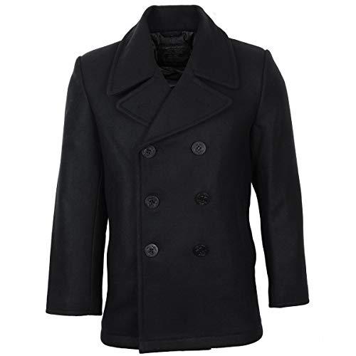 Wolle Peacoat Jacke (MIL-TEC Us Navy Peacoat schwarz Gr.M)