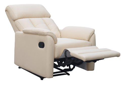 Poltrona tessuto eco pelle per tv reclinabile poggiapiedi