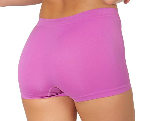 simaranda 6er Pack Damen Slips Seamless Unterwäsche Panty Boxershorts Unterhose Microfaser 20 (XL/XXL, Farbig) - 9