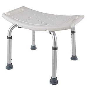 HENGMEI Aluminium Höhenverstellbar Badhocker Duschstuhl Duschhilfe Duschsitz Badsitz Duschhocker für die professionelle Pflege