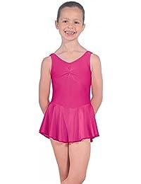 Roch Valley ISTDJ - Maillot de licra con falda rosa rojo Talla:Age 3-4 98-104cm (0)