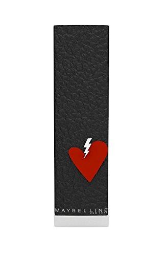 Maybelline New York Color Sensational Rossetto, Collezione San Valentino, Confezione in Pelle, 527 Lady Red, Rosso, Edizione Limitata