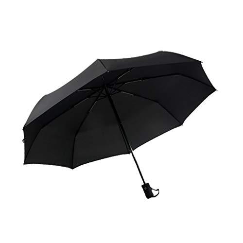 GFF Vollautomatischer Regenschirm Übergroßer Dreifach-Regenschirm Männer und Frauen Winddichtes Geschäft Sonniger Regen Student mit doppeltem Verwendungszweck (Farbe: D) -