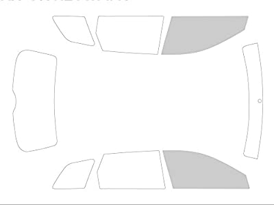 Variance Auto va_k-3-3|1187|3779-3-54 Films Teintés pour Auto Kit Vitres avant, Noir 70