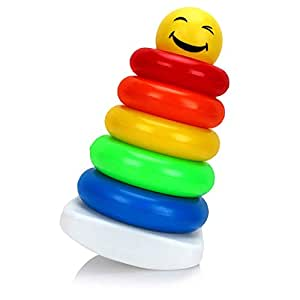 Toyztrend Junior Smiley Stacking Multicolour 5 Rings for Toddlers