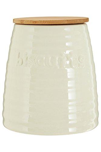 Premier Housewares Winnie Boîte à thé, Céramique, crème, 15 x 15 x 16 cm