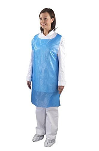 Blue Disposable Aprons On a roll (200) High Density by Ashland Chemicals & Hygiene Supplies