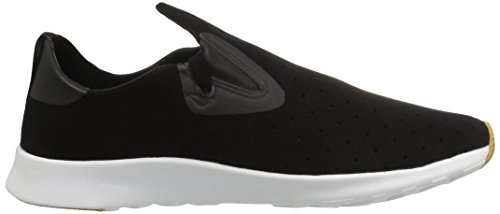 Native Apollo Moc Jiffy Coquille Noire Blanc Nat Rubber Jiffy Noir