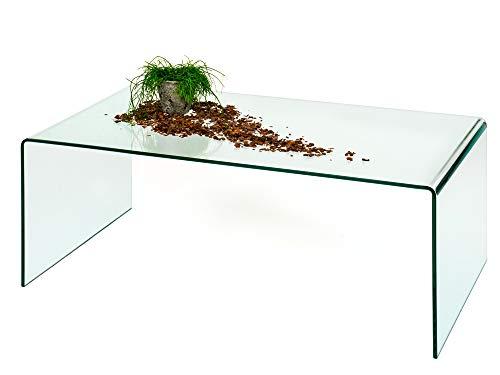 Couchtisch Glastisch 110 cm Glasmöbel aus Sicherheitsglas -