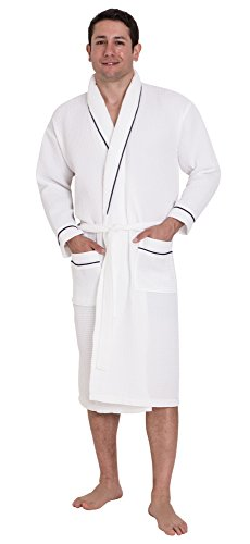 John Christian Men's Hotel Style Cotton Waffle Dressing Gown