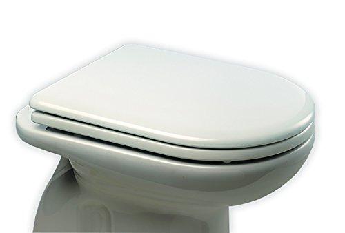 Bemis 3143CPT000 WC-Sitz, passgenau für eckige und halbrunde Kloschüssel, STA-TITE, weiß - Wc-scharnier Bemis