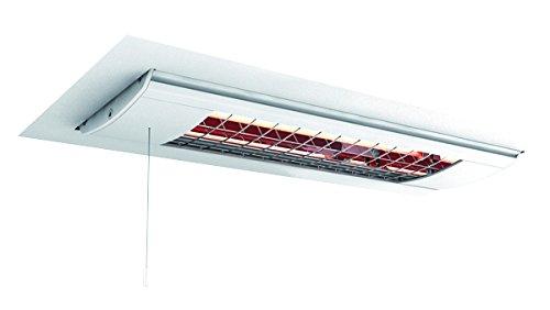 Solamagic Infrarotstrahler SM-500DEZS-W mit Zugschalter für Deckeneinbau, 500W, Farbe: Weiß, Maße: 486x214x200mm, Spannung: 230V, Steckerleitung: 40cm