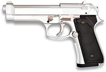 Martinez 35163. Pistola airsoft M92F metálica, color plata. Calibre 6mm. Potencia 0,5 Julios