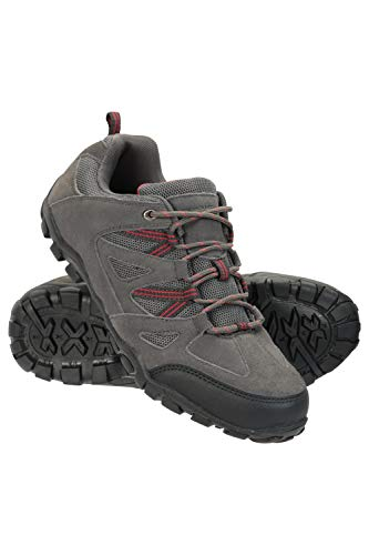 Mountain Warehouse Outdoor Mens Walking Shoes - Suede Mesh Upper Footwear, Cushioned EVA Footbed, Rubber Outsole - for Hiking, Camping, Travelling