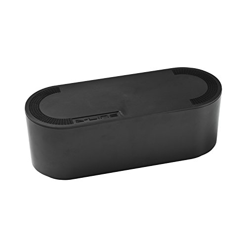 D-Line Kabelbox. Kabelmanagement-Box, Aus robustem, Strom isolierendem ABS-Kunststoff – klein, - Leiter Schwarz Schreibtisch