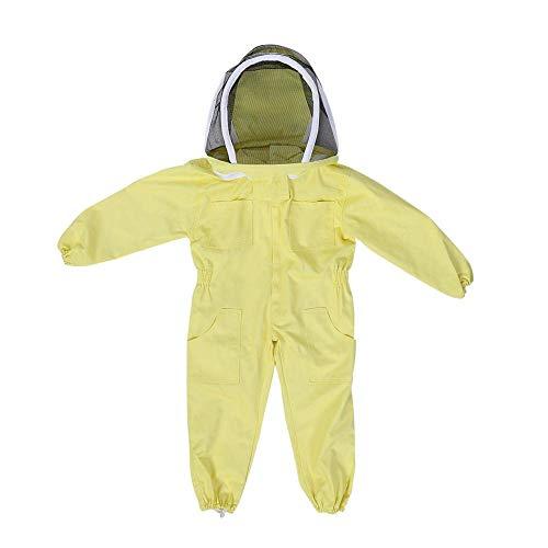 Fdit Traje de protección Profesional para Apicultura para niños con diseño de Granja, Large