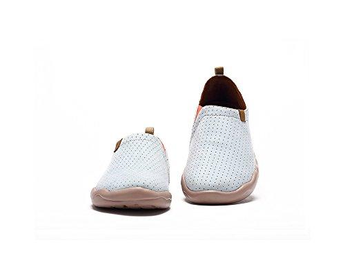 UIN Chaussure mode décontractée de Microfibre Toledo des femmes blanc-beige