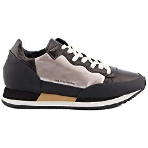 Philippe Model - Zapatillas para hombre negro negro