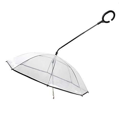 Dream Catcher Paraguas Transparente atrapasueños para Perro, Paraguas telescópico de Larga Distancia para Perro y Lluvia, la Vida Seca e Indestructible