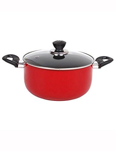 Zuppa Red Pot non - bastone piatto fondo zuppa di polenta visiva Pot
