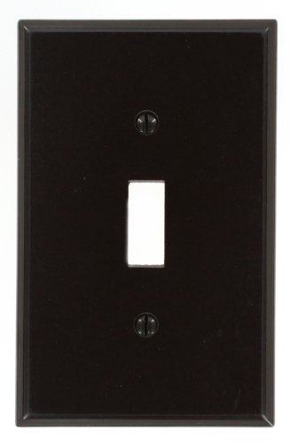 Leviton 80501 Single Mid-Way Switch Wall Plate-BRN 1-TOGGLE WALL PLATE