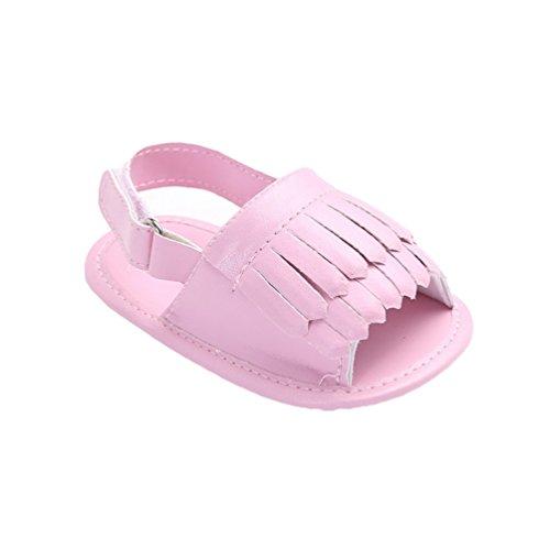 CHENGYANG Bambino Ragazze Ragazzi Frange Scarpine Primi Passi Estivo Suola Morbida Sandali Pink#1