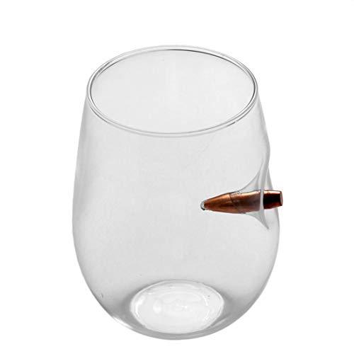 Formulaone Innovative Bullet Whiskey Bar Wein Kristallglas Tasse Bullet Vodka Schuss Weinglas Tassen Flache Runde Tisch Dekor Bar Tool