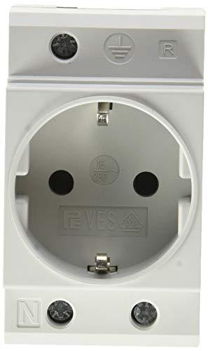 UNITEC 47260L Einbau-Schutzkontakt-Steckdose für Verteilereinbau -