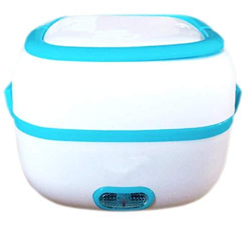CUICUIMM Multifunktionale elektrische Brotdose, Mini-Reiskocher Tragbarer Dampfgarer zum Kochen von Reisbrei Nahrhafte Eier Warme Gerichte Büro Außenbereich Schulgebrauch,Blue -