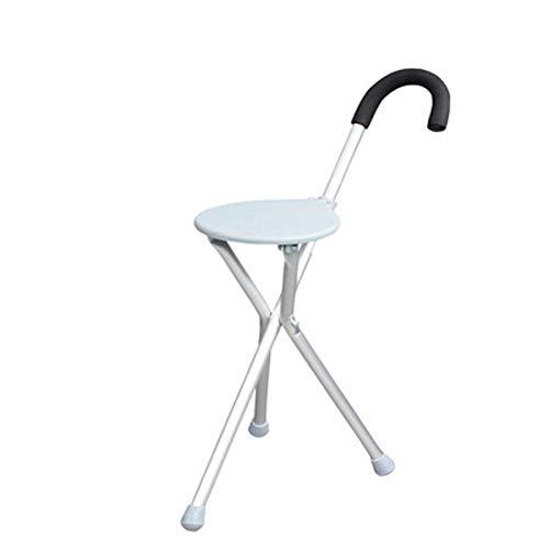 Klapphocker, Aluminiumlegierung Mehrzweckrohr, kann als EIN Gehstock oder Sitz, geeignet für ältere Menschen zu Fuß 30x84cm zu Klettern, verwendet Werden, -
