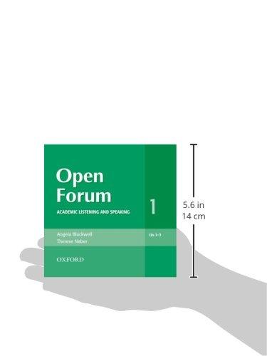 Open Forum 1. Audio CD