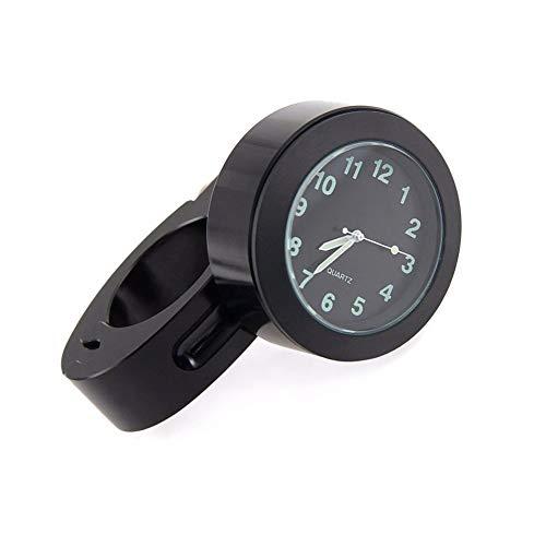 Dxlta Fahrrad Halterung Motorrad Lenkeruhr Mini Uhr Wasserdichte Wählen Uhr Weiß/Schwarz