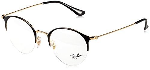 Ray-Ban Unisex-Erwachsene Brillengestell 0rx 3578v 2890 48, (Gold Top Shiny Black)