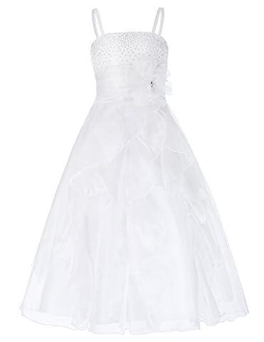 Table Ronde Legere - Fille Bretelle Mariage Cérémonie Robe sans Manches