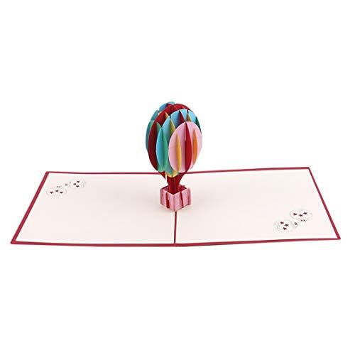 DFASPH Luftballon 3D schnitzen Grußkarte kreative Pop Up Grußkarte Abschlussfeier Glückwunschkarte für Studenten