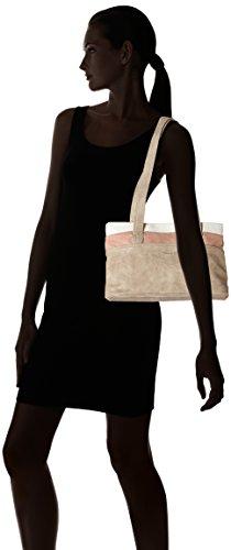 Tamaris Damen Khema Shoulder Bag Schultertasche, 10,5x22x32,5 cm Grau (Light Grey Comb)