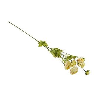 1 PC. Camelia Artificial Rosa 8 Cabezas Decoración Jardín Floral 6 Colores – Amarillo