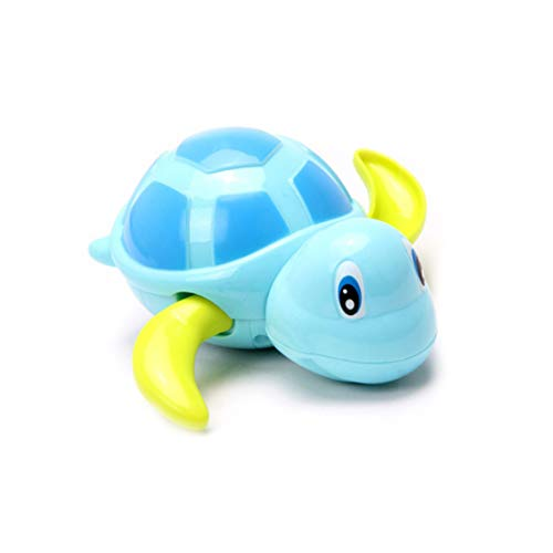 3 Stück Baby Bath Toys Toddler Carino Tartaruga Tier Wind Up Balneation Spielzeug Wasser Pool Schwimmbad Badewanne Spielzeug Spielzeug Spielzeug (Blau, Gelb, Grün)