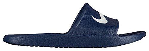 Nike ciabatta in gomma blu con logo bianco