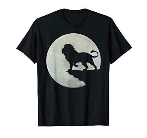 Löwe im Mondschein auf einem Felsen T-Shirt (König Der Löwen T Shirt Kinder)