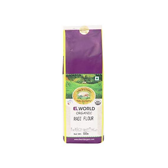 ELWORLD AGRO & ORGANIC FOOD PRODUCTS Ragi Flour- 500g (Pack of 2)