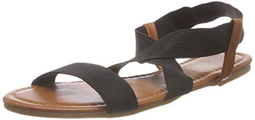 SANDALUP Damen Elastische Sandalen Black 03