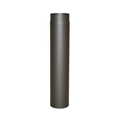 Ofenrohr Senotherm® 2 mm Ø 150 mm hitzebeständig lackiert, gerade - Rauchrohr, Kaminrohr gussgrau - für Pellettofen und Kamine - Länge: 750 mm