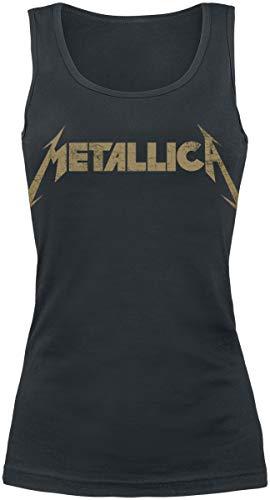 Metallica Hetfield Iron Cross Guitar Top Mujer Negro L