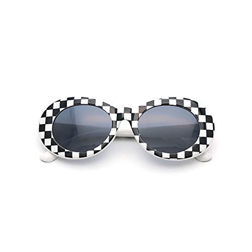 Vikimen Sportbrillen, Angeln Golfbrille,NIRVANA Kurt Cobain Glasses Round Clout Goggles Sunglasses For Women Men Mirrored Glasses Retro Female Male Sun Glasses as picture White